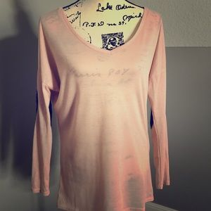 Blush long sleeve top